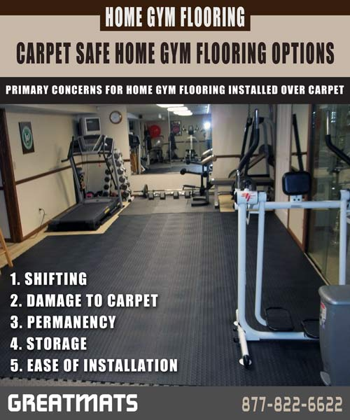 Greatmats Carpet Safe Home Gym Flooring Options inforgraphic