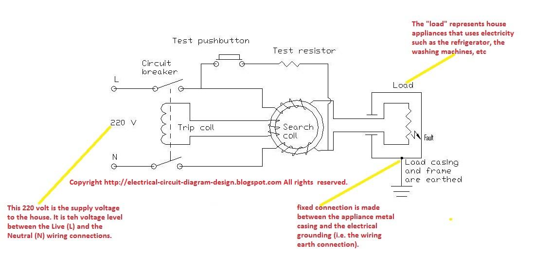 Electric Circuit Diagram Design: ELCB circuit diagram