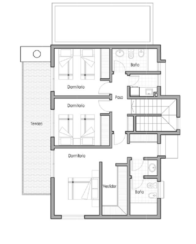 Plano de casa de 165 m2 planos de casas gratis y for Ideas distribucion casa