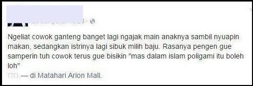 Status facebook tentang poligami