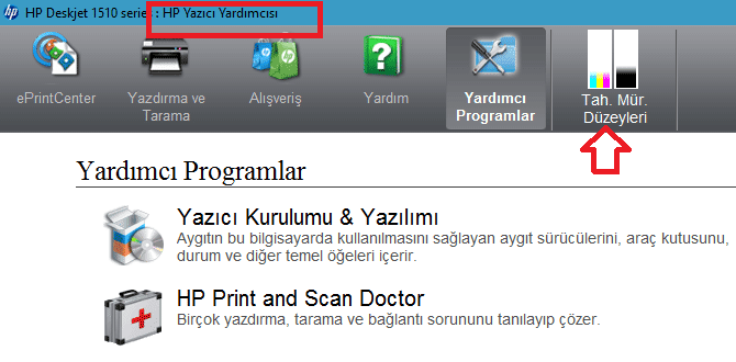 HP Yazıcının Mürekkep Düzeylerini Kontrol Etme-www.ceofix.com