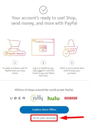 create paypal account to receive money