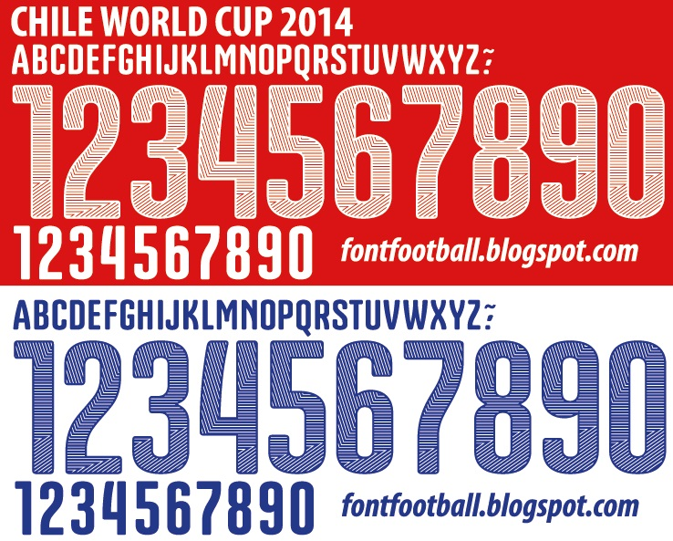 font football font vector puma chile world cup 2014 kit font vector puma chile world cup 2014 kit