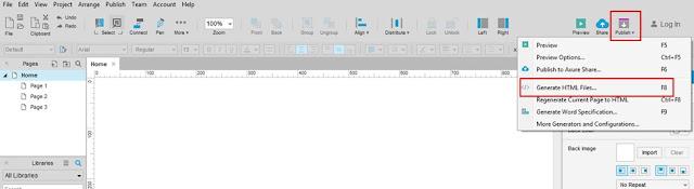 Axure RP Tool screenshot
