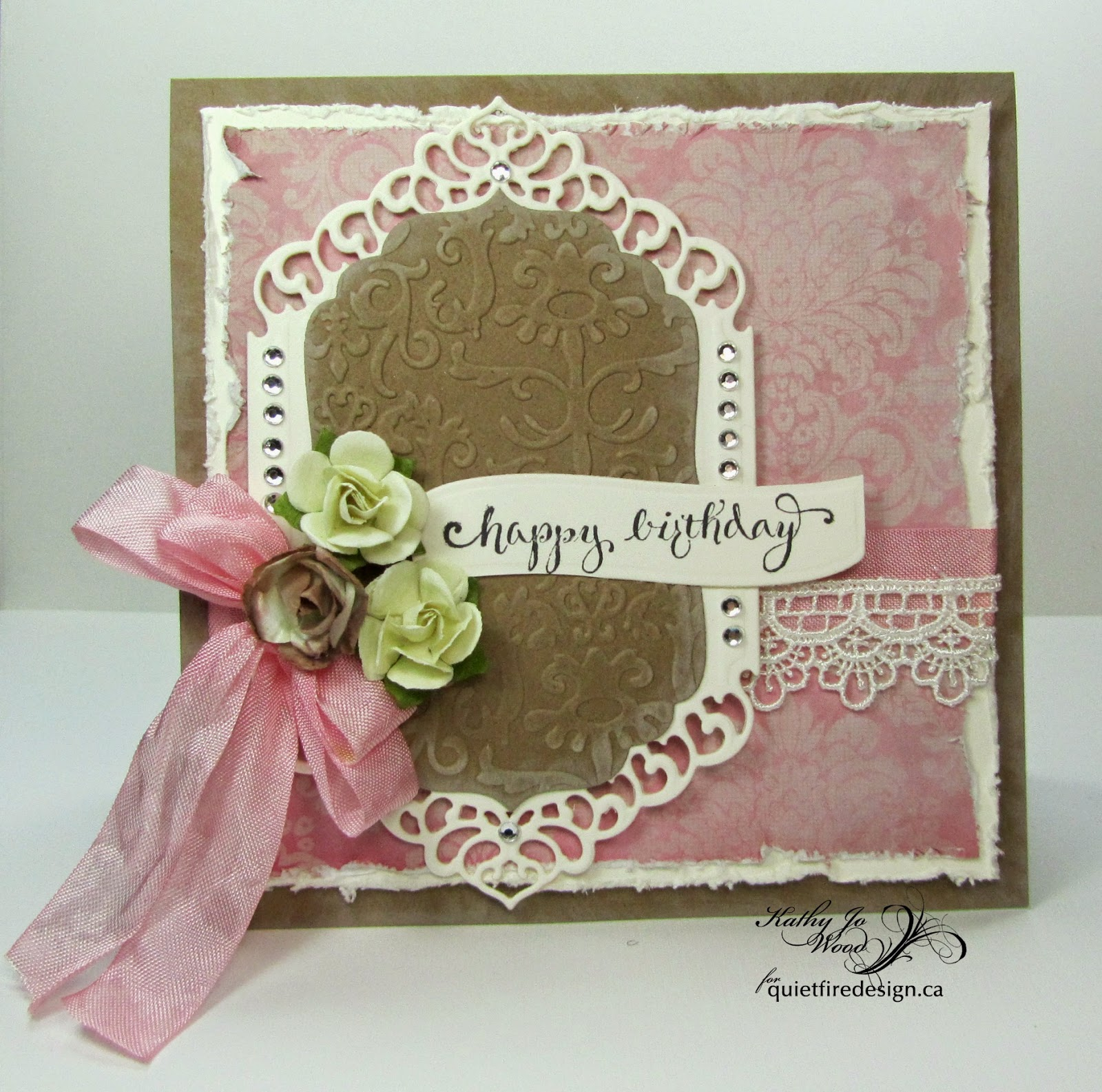 Quietfire Design, Happy Birthday Plain & Simple, Home is where your mom is, Happy Family Days, birthday card, fancy fold, spellbinders, Kathy Jo Wood