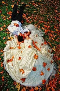 fall wedding decor photography