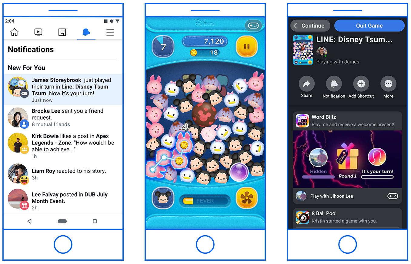 Facebook Introduces New Discovery and Engagement Features for Instant Games
