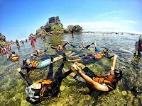 Pantai Nglambor Gunung Kidul info (snorkeling, Rute dan Tiket Masuk)