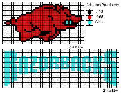 Crochet Fanatic Ncaa Logo And Name Plates A D