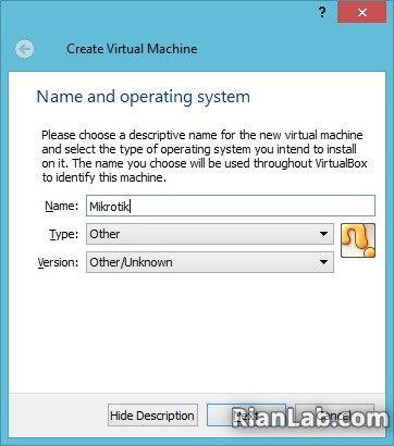 Membuat Mikrotik di Virtualbox
