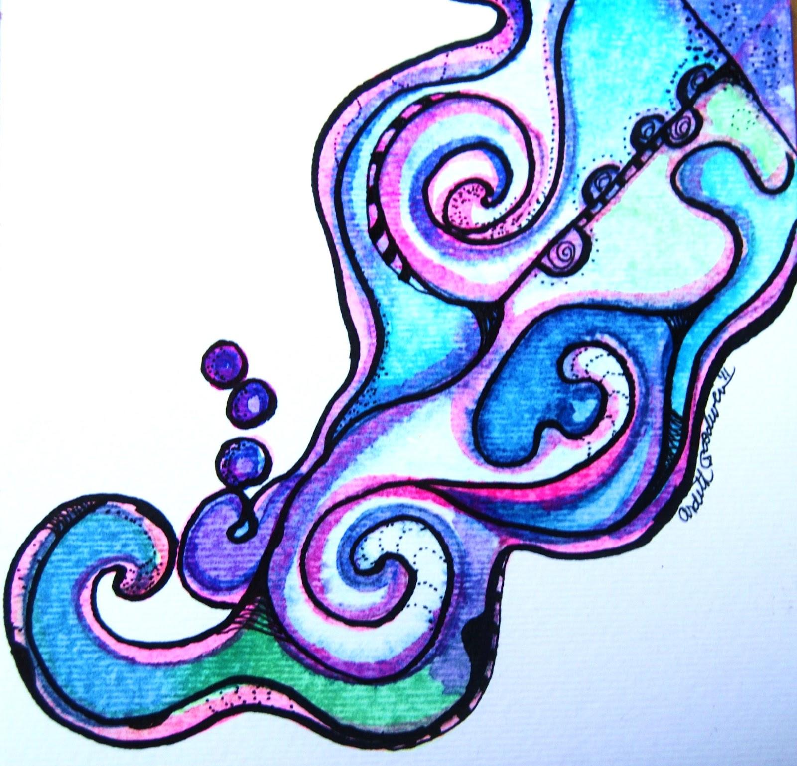 Push Past Ordinary: Watercolor Zen Doodles