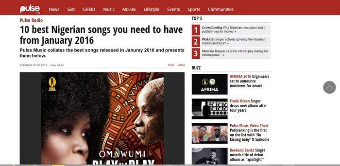 Top nigerian music download sites.