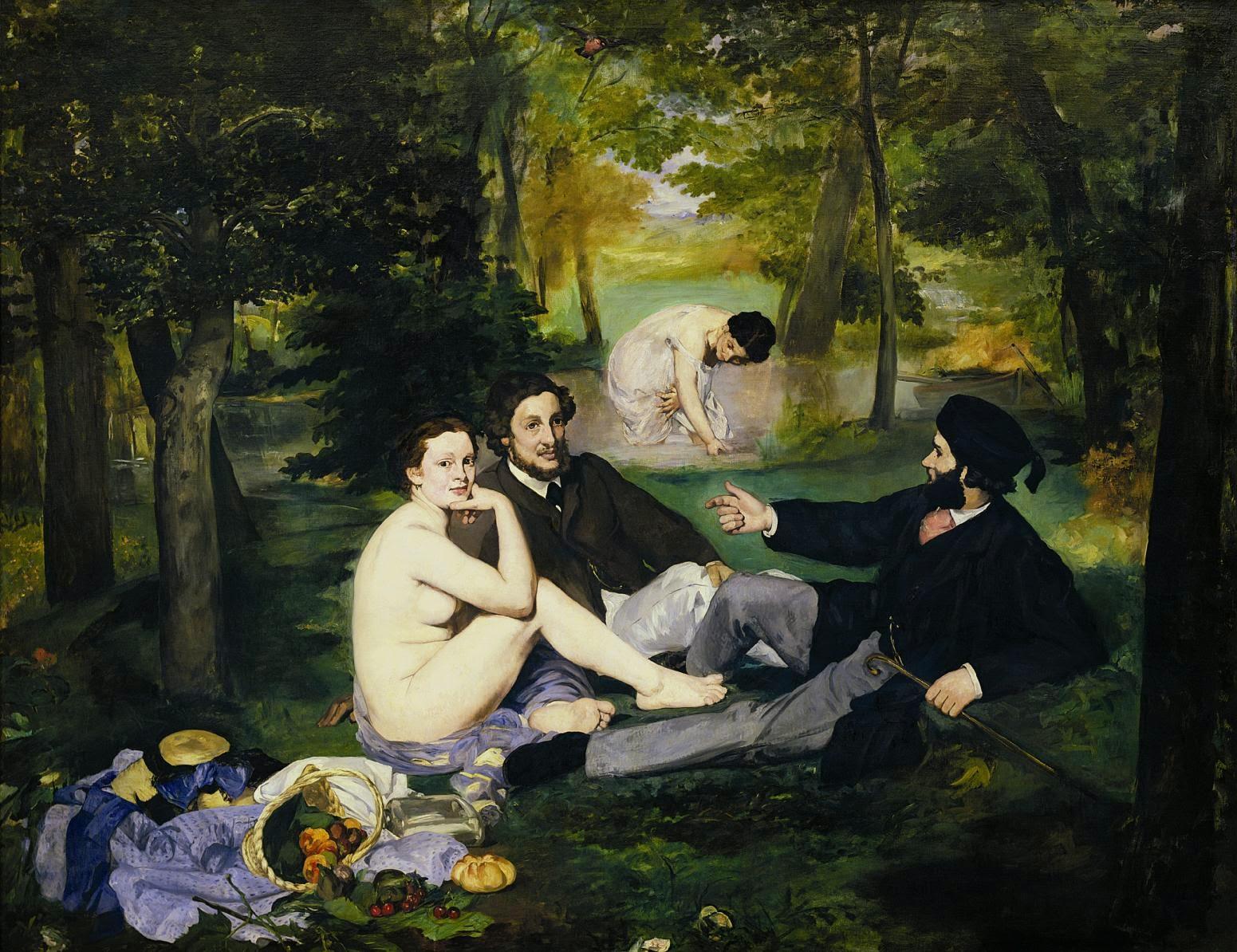 O Almoço na Relva - Pinturas impressionistas pintadas por Édouard Manet