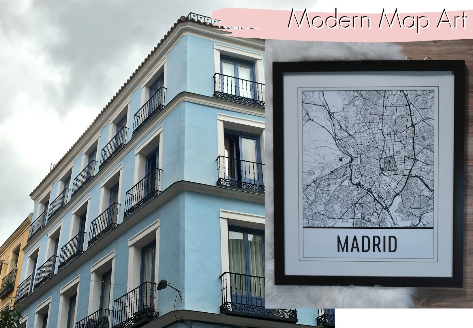 Modern Map Art, MADRID SPAIN MAP, ART, PRINT, POSTER, WALL ART, Madrid, travel to Madrid, viajar a Madrid, home decor, decoración hogar, poster de Madrid, mapa de Madrid, Madrid map print, black and white print of Madrid, Madrid en blanco y negro, musings about Madrid, Chicago blogger, Fashionlingual, Latina Blogger, Chicago Latina blogger