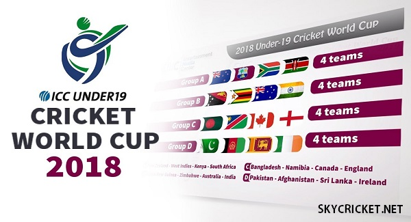 ICC U19 WC 2018 Schedule