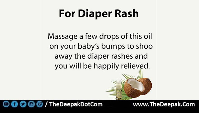 6 COCONUT OIL used for Diaper Rash