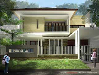 desain rumah tropis modern 2 lantai