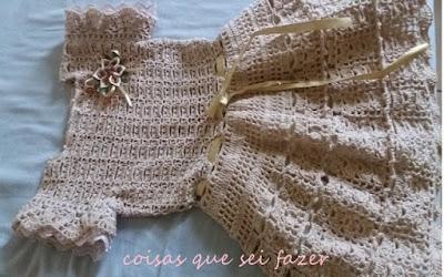 vestido de crochê infantil