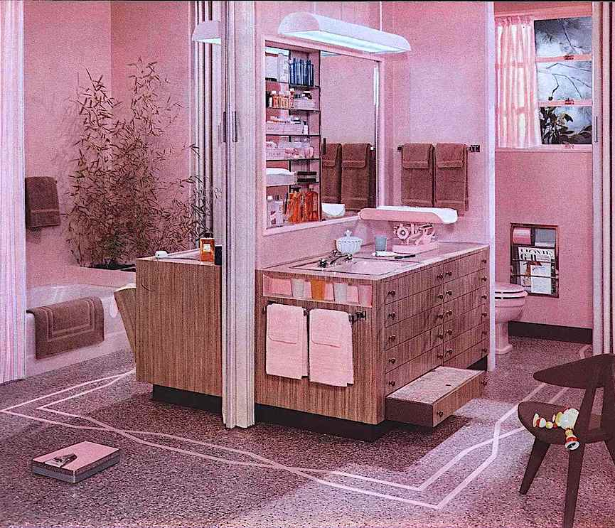 1957 family bathroom