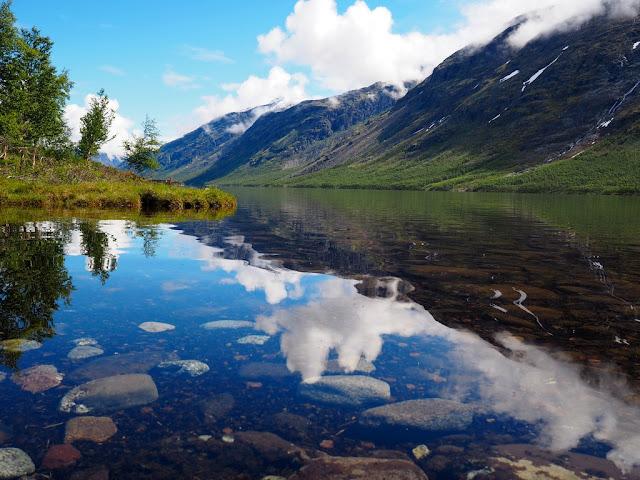 Gjende, jezero, příroda, trek, Jotunheimen, Norsko, pohádka