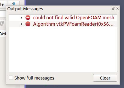 OpenFOAMのサンプルプロジェクトを動かして図を表示してみた