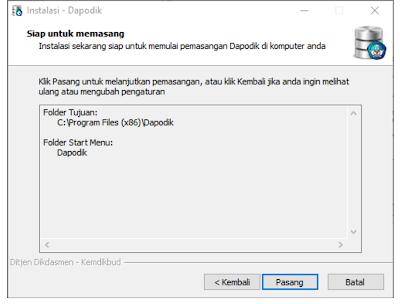 proses install aplikasi dapodik 2020