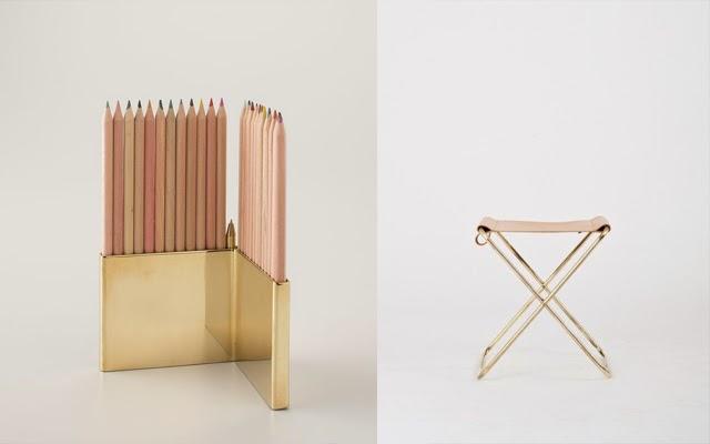 pencils holder gold
