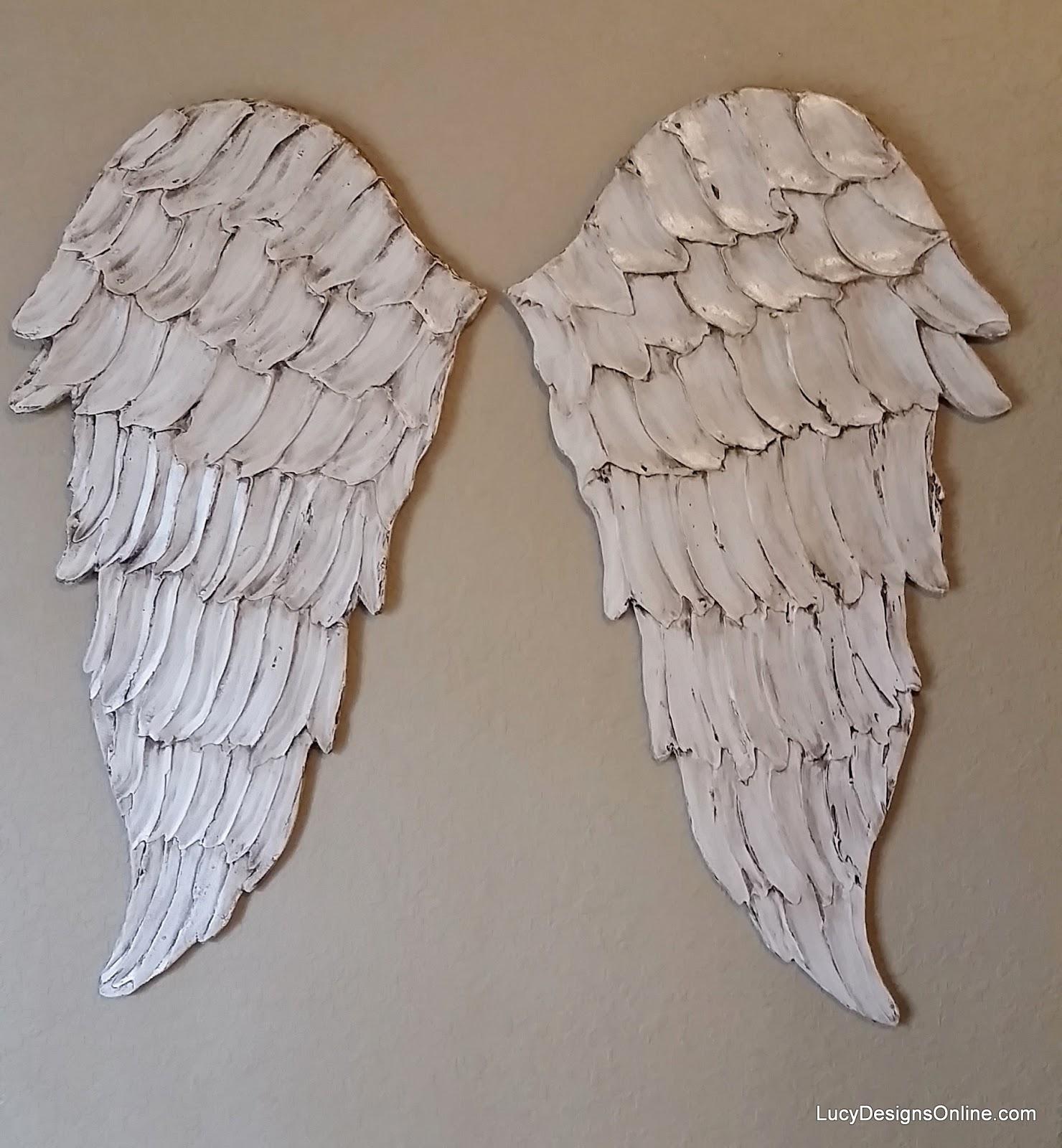 Angel Wings Textured wood, Wall Art, Carved Wood Look ...