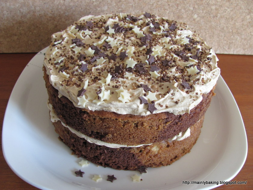 Mainly Baking Mocha Marbled Sandwich Cake