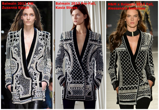 Balmain x H&M 2015 Fall Beaded Velvet Jacket