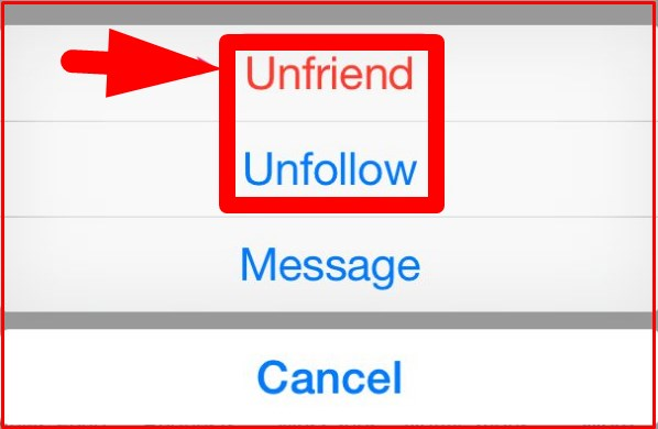 how to unfriend on facebook app iphone