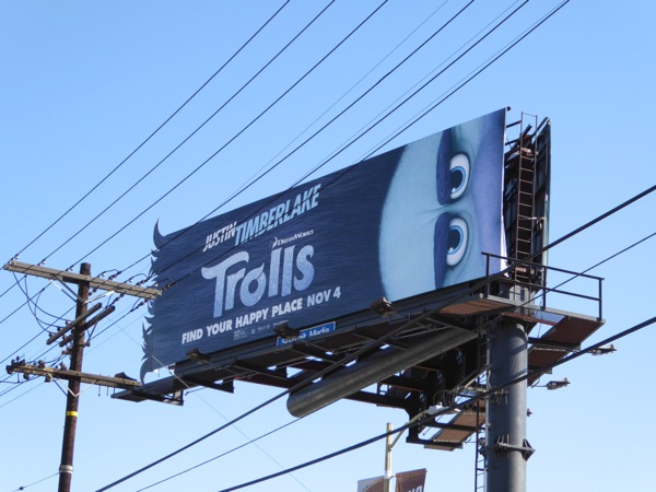 Trolls movie Branch billboard