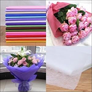 Kertas Buket Bunga / Hand Bouquet Motif Polos