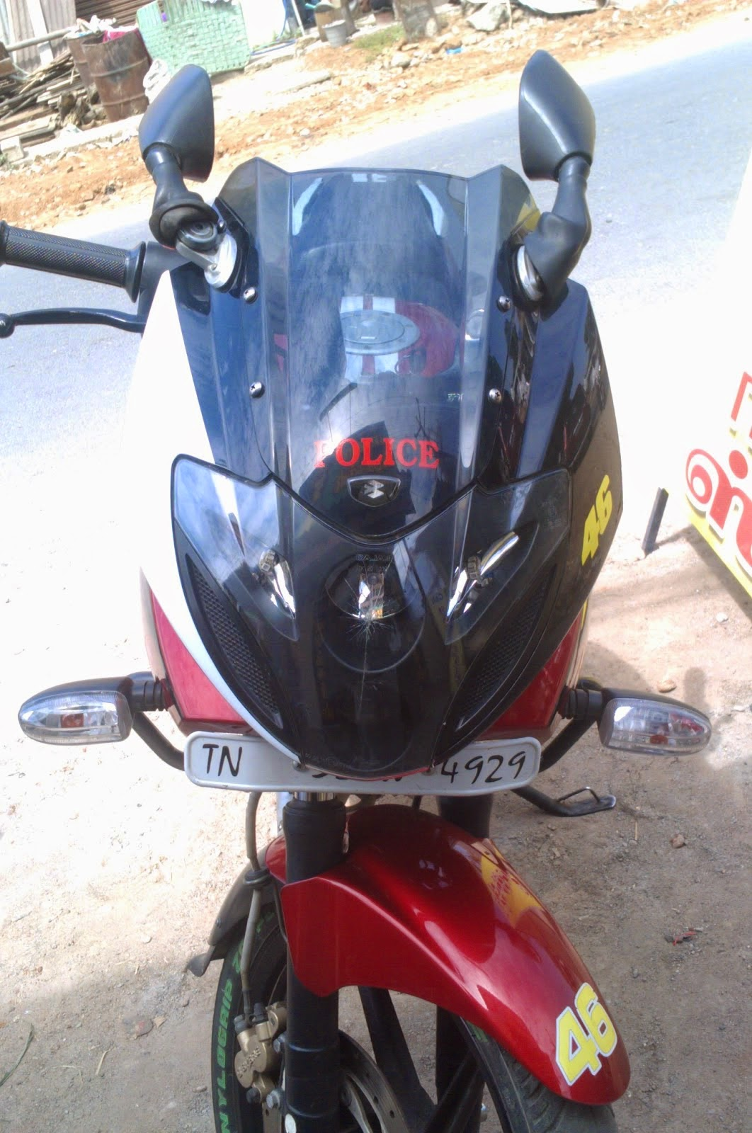 Bike stickers design india - Bike Visor Stickers Design Raja Stickers Salem Mettur Dam 1 Tamil Nadu India