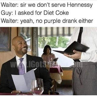 funny image of a waiter being racist
