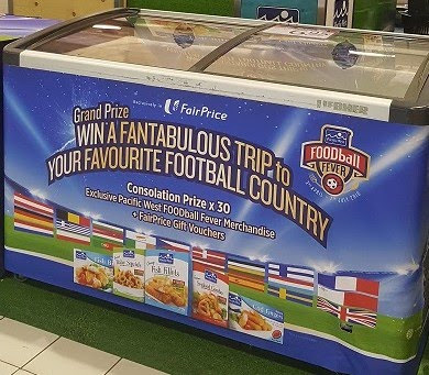 "FairPrice and Pacific West are going with FOODball Fever and a prize of a trip to ""your favourite football country""."