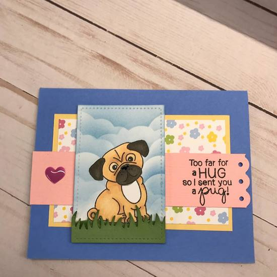 Too far for a hug by Vicki features Pug Hugs by Newton's Nook Designs; #newtonsnook