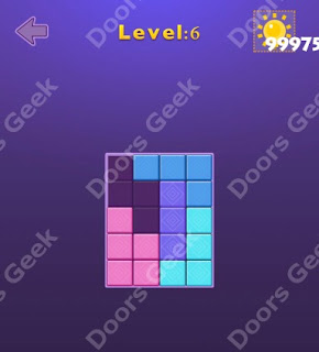 Cheats, Solutions, Walkthrough for Move Blocks Easy Level 6