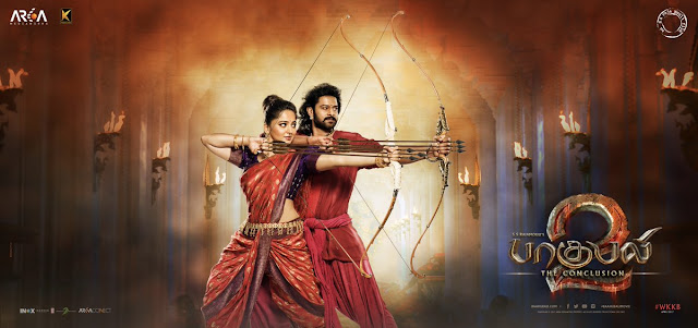 Baahubali 2 tamil Posters , Prabhas and anushka