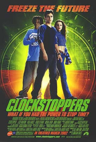 Poster Of Free Download Clockstoppers 2002 300MB Full Movie Hindi Dubbed 720P Bluray HD HEVC Small Size Pc Movie Only At worldfree4u.com
