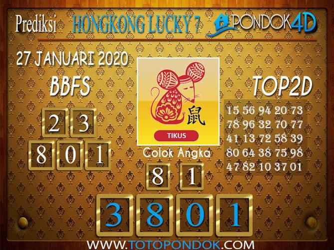 Prediksi Togel HONGKONG LUCKY7 PONDOK4D 27 JANUARI 2020
