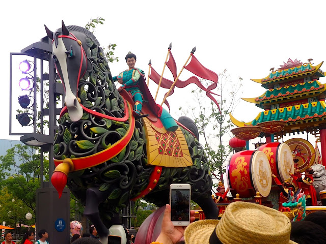 Mulan parade float, Shanghai Disneyland, China