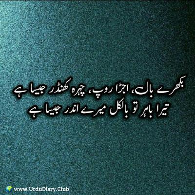 Bikhere Bal, Ujera Roop, Chehra Khander Jesa Hai