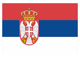 Serbian flag Logo Vector