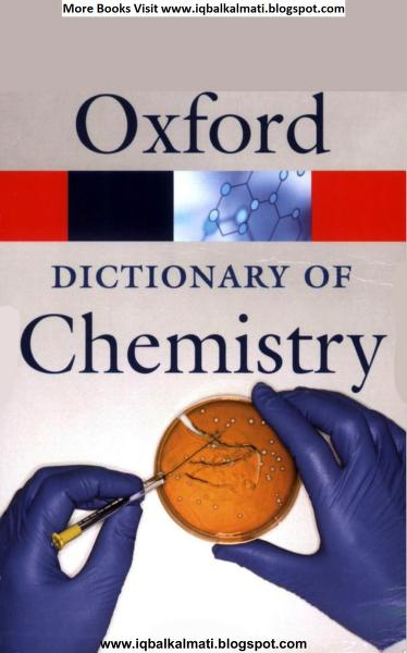 Oxford Dictionary Of Chemistry PDF Book