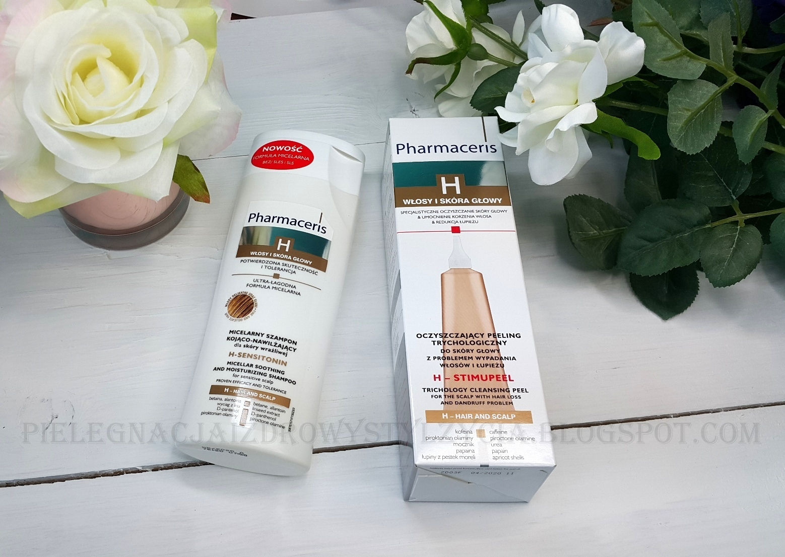 Upominki See Bloggers - peeling do skóry głowy i micelarny szampon Pharmaceris