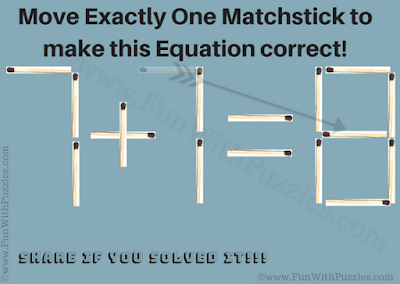 Answer of Easy Matchstick Puzzle for Kids