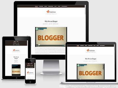 publisher 1 column responsive blogger template