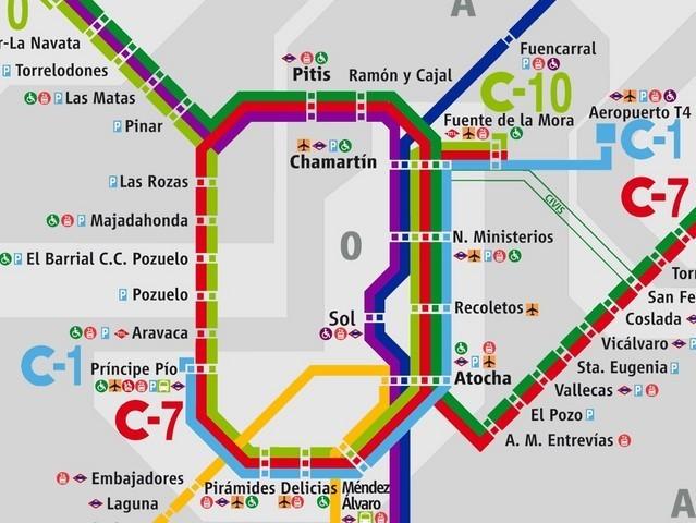 Plano de renfe Madrid