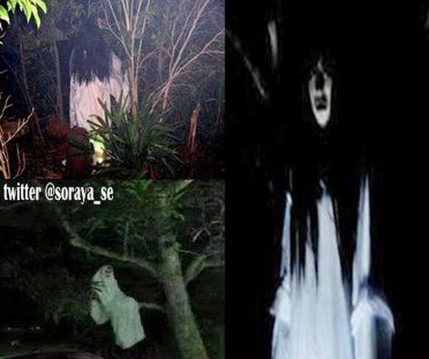 ilustrasi penampakan hantu kuntilanak